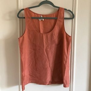 Jcrew Silk Tank melon color